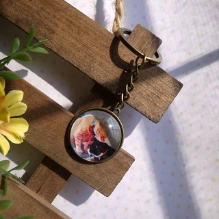 [Custom photo] graduation key ring - double-sided round models / 25mm/30mm / double-sided photos