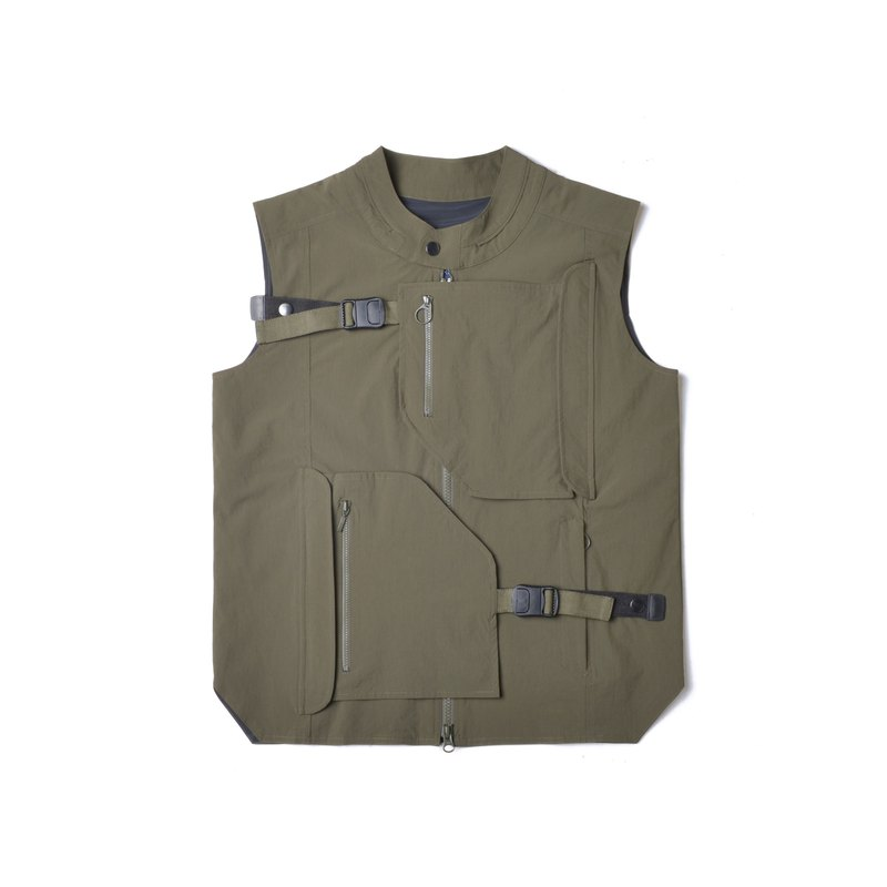 oqLiq - AdHeRe - Disassemble Pocket Tai Chi Tactical Vest (Green)
