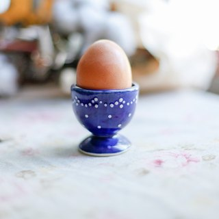 [Good day fetish] German vintage boiled eggs! Hand-painted traditional egg cup / ornaments / dark blue
