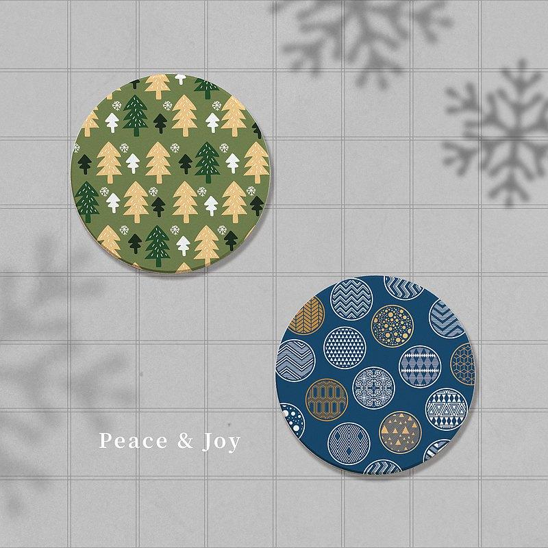 聖誕風系列 D (4入組) | 吸水杯墊