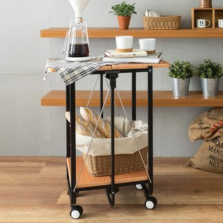 LIGFE Folding Serving Cart