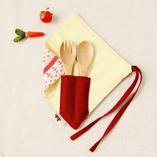 [One corner simple chopstick set] - Under anchor rest (red)