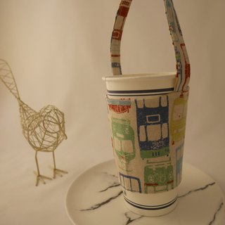 Nostalgic Showa Tram Take Out Drink Cup Bag