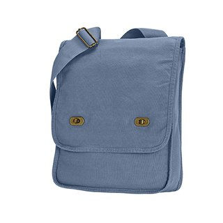 Comfort Colors│American fashion shoulder bag │ canvas bag │ side backpack │ diagonal backpack │ blue
