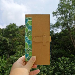 【clear. Color] green mountain forest hand painted washed kraft paper clip