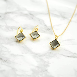 necklace earrings set/Swarovski(BlackDiamond ) Set/施华洛世奇 飾品 金