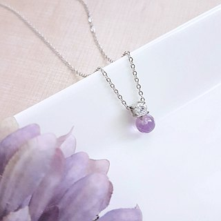 Belle blossoming series of natural gemstone pearl / amethyst white steel and natural gemstone combination