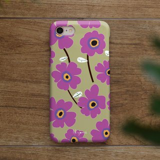 iphone case purple flower pattern for iphone5s,6s,6s plus, 7,7+, 8, 8+,iphone x