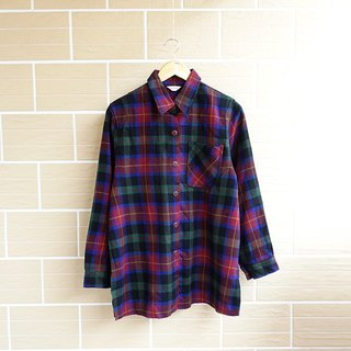 │Slowly │ classic checkered - ancient shirt shirt │ vintage. Retro.