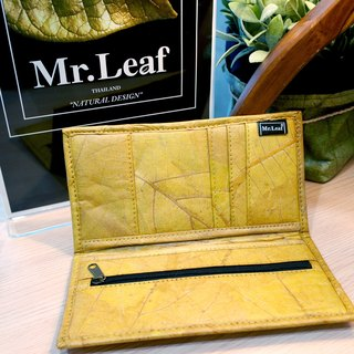 Mr.Leaf teak leaf simple texture long folder