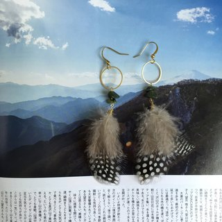Feather earrings  |  Ethnic  |  perfect little gift idea