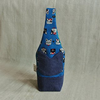 Cute law bucket - cyan water bottle bag / mug bag / umbrella bag