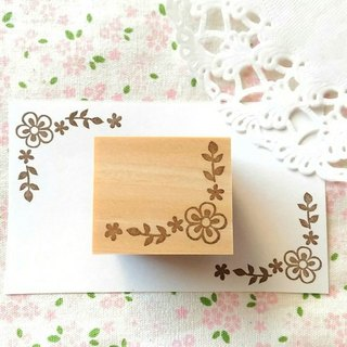 Flower corner decoration A stamp