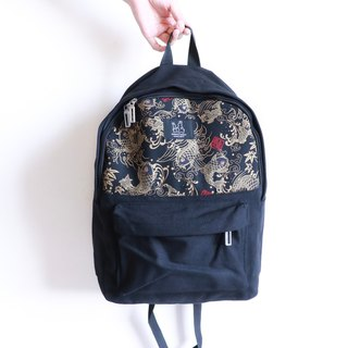 Backpack - Chinese style squid print
