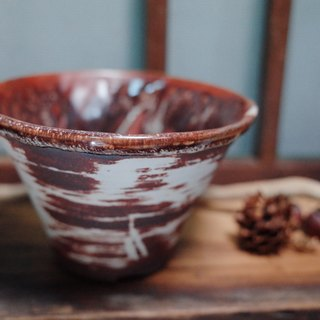 Trace Trace (small bowl - red and white cream)