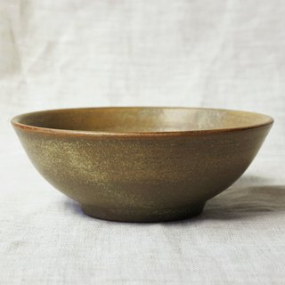 Yellow green glaze small dish