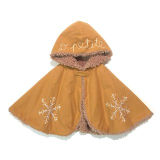 Snowy BABY cape   Orange camel