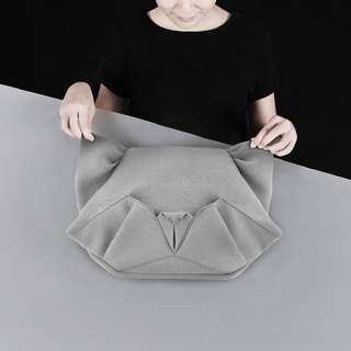 ORIBAGU Origami Bag_Gray Cat Side/Back Pack