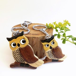 [Handmade wooden x owl key ring / strap] * May