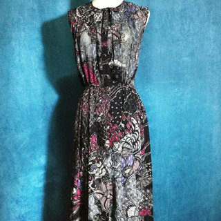 Time ancient [antique dress / flower butterfly weave no antique dress] foreign back to ancient dress VINTAGE