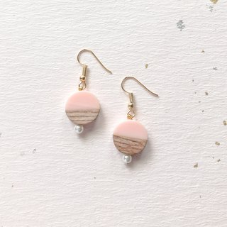 | Limited | texture wood hand-made earrings can change the ear clip Valentine's Day gift