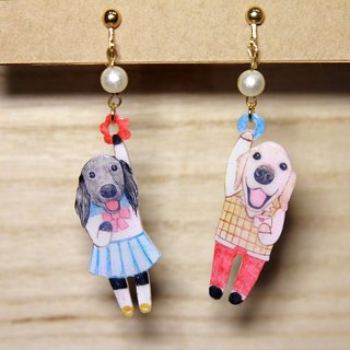 Christmas Gift Pet Customized Earrings*Two*