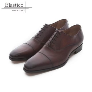 Elastico Italian classic horizontal Oxford shoes #642Tobacco - ARGIS Japanese handmade