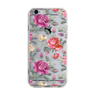 Rose - Samsung S5 S6 S7 note4 note5 iPhone 5 5s 6 6s 6 plus 7 7 plus ASUS HTC m9 Sony LG G4 G5 v10 手機殼 手機套 電話殼 phone case