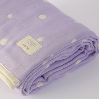 MARURU Six-layer gauze baby blanket  (S) Lavender (Made in Japan)