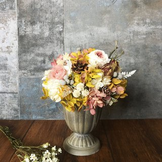 Autumn Letters | Dry potted flowers. Opening. celebrate. Birthday flower ceremony