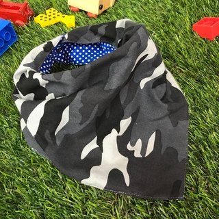 Fashion scarf*camouflage wind*Three-dimensional triangle bib