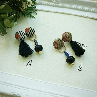 :: Seed retro combination earrings - black tassels models