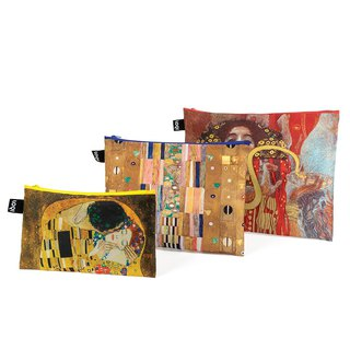 LOQI Triple Entry Storage Bag - Museum Series (Klimt ZPMUKL)