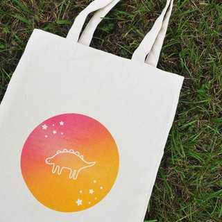 Dinosaur Gradient Planet Canvas Bag