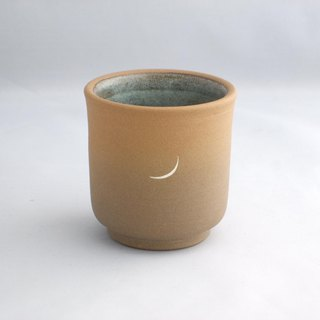 sunset moon handmade ceramic teacup