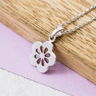 Sakura Flower in Brass with White Gold plating