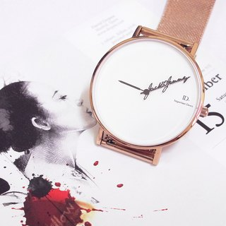 ID.watch Customized Name Pointer Watch - Metal Milan Rose Gold