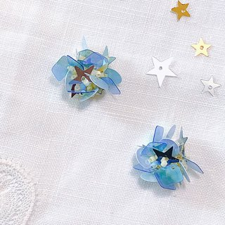 Flower Book Series - Mermaid Star Bouquet Handmade Temperament Ear Sequins Ear/Aurture