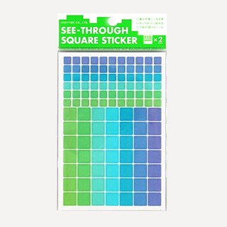 Transparent squares sticker · B