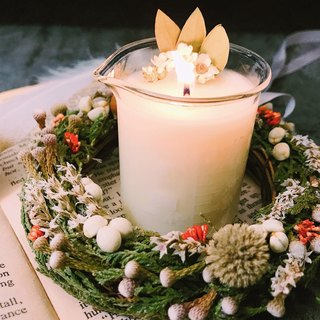 MAYBES / Limited 'Christmas Gift Box _ Dry Wreath Soy Candle _ Feng