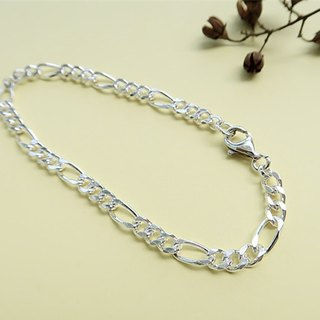 Rough・Bracelet Flat chain 925 sterling silver