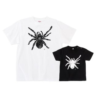 蜘蛛 spider Tarantula family t-shirt dad son 2set Men Baby Kids White Black