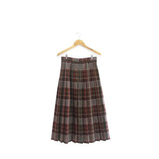 │Slowly│Classic Plaid-Wool Vintage Skirt│vintage.Retro.Art.Italian