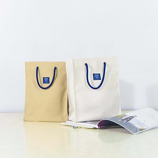 Canvas bag like paper bag _ camel (S)