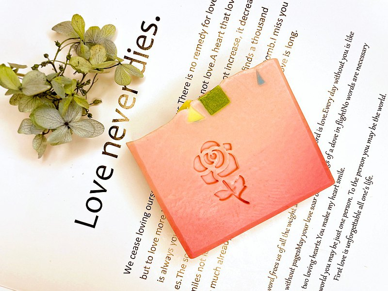 玫瑰嫩白蠶絲蜂蜜皂-粉紅玫瑰