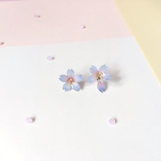 Sakura Limited Edition Blue Pink Night Cherry blossoms Flower