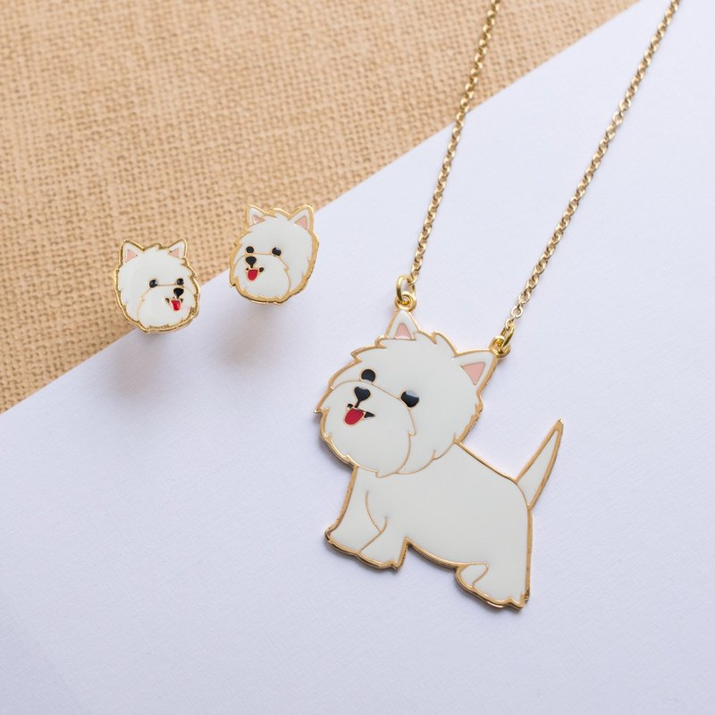 West Highland White Terrier Long necklace