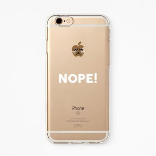 iPhone Rubber Case - Grumpy Cat NOPE! - for iPhones  - Clear Flexible case