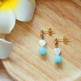Anniewhere | Sweet | Bebe Bead Earrings - Live Green (clampable)