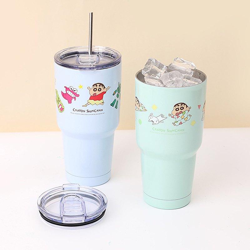 蠟筆小新不鏽鋼冰霸杯 - 保溫杯 睡衣 304不鏽鋼 雙層真空飲料杯
